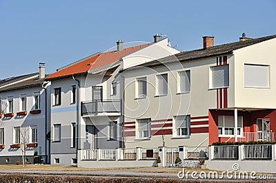 Residential houses facade