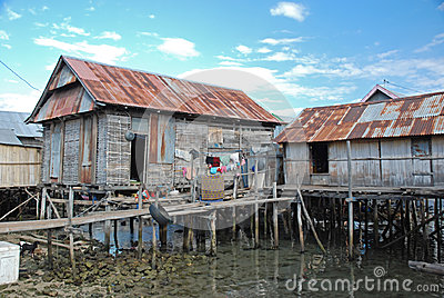 Residential houses on stilts, Maumere, Indonesia