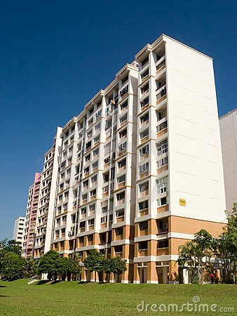 Free Residential Housing Apartment In Singapore Royalty Free Stock Image - 196296