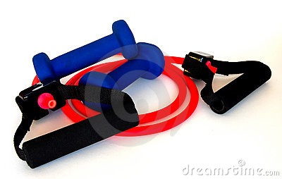 Resistance Band and Weights