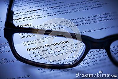Resolução de litígios do negócio