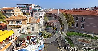 Resort architecture Pomorie on the Black Sea coast in Bulgaria stock video