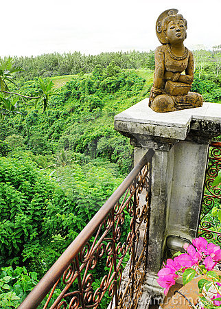 Resort balcony with valley view, bali