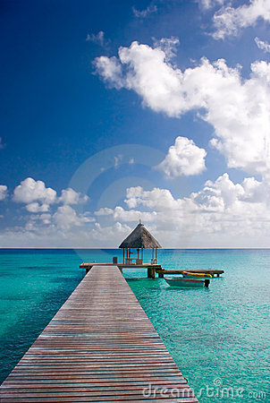 resort dock tropical destination