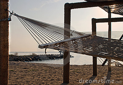 Resort Hammocks at Sunset