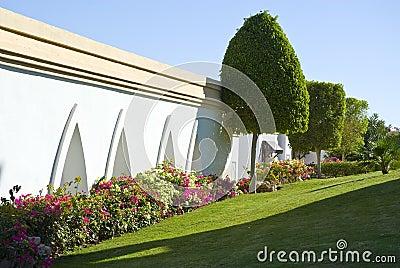 Resort hotel landscaping