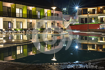 Resort hotel royalty free stock image image 30915956 - Hotel with swimming pool on balcony ...