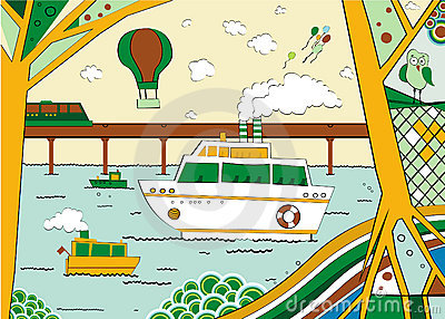 Resort,illustration