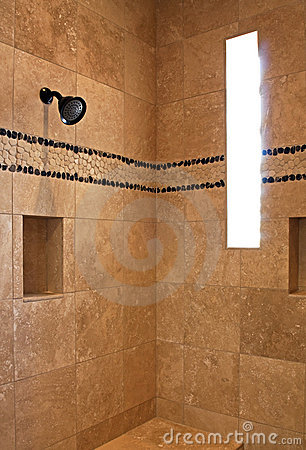 Resort mansion bathroom shower
