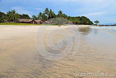 Resort near the beach on a tropical island