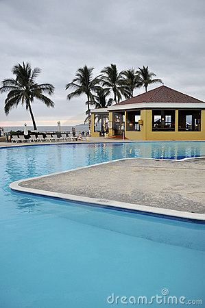 Resort pool in Mexico