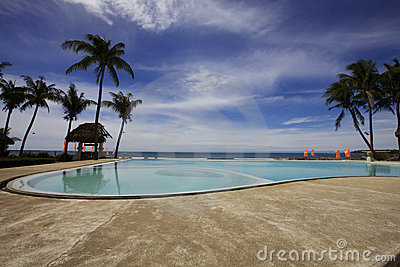 Resort Pool on Ocean