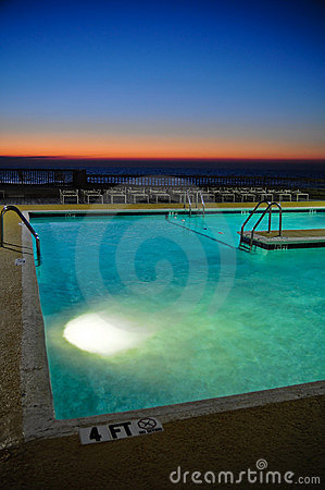 Resort Pool at Sunrise