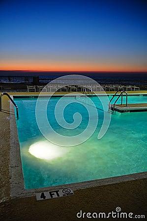 Resort Pool at Sunrise