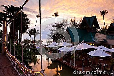 Resort on the sunset beach