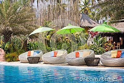 Resort swimming pool, Thailand