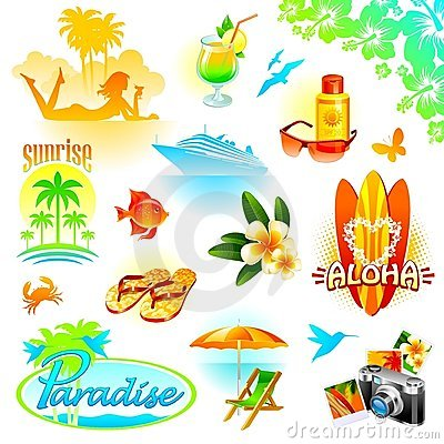 Free Resort, Travel And Exotic Holidays Set Stock Images - 13522294