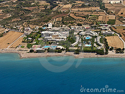 Resorts in Rhodes, aerial