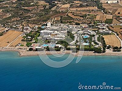 Resorts in Rhodes, aerial