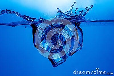 Respingo dos cubos de gelo