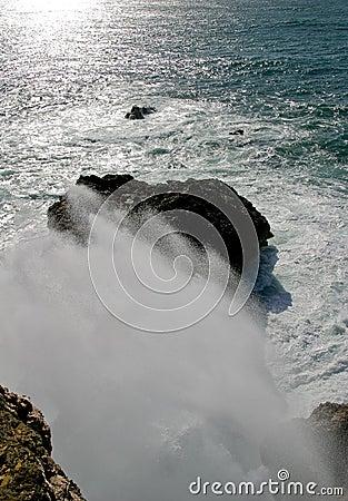 Respingo grande da onda