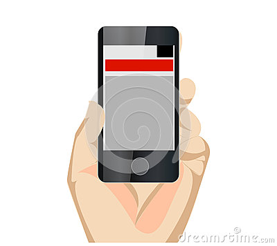 Responsive Mobile Web Site Vertical With Hand