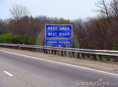 Rest Area Road Sign