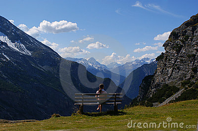 Rest on the nature, Alps, Italy