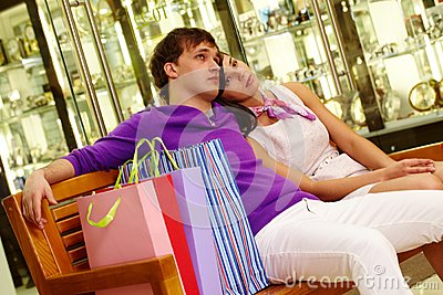 Rest after shopping