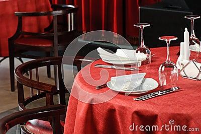 Restauracja stół