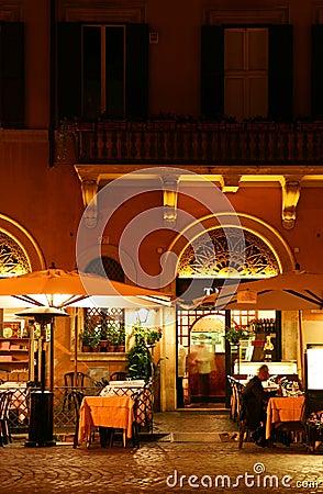 Free Restaurant At Night Royalty Free Stock Image - 4375446