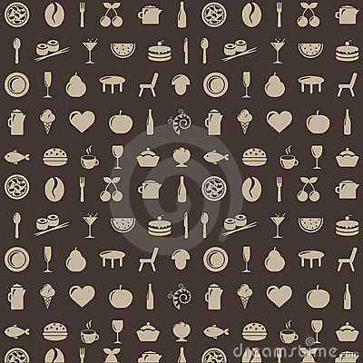 Restaurant Background. Vector