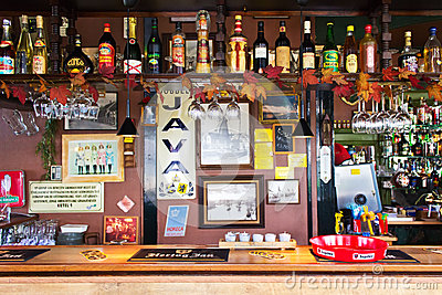 At the Restaurant Bar Editorial Image