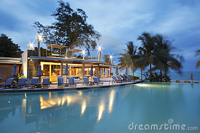 Restaurant bar at swimming pool