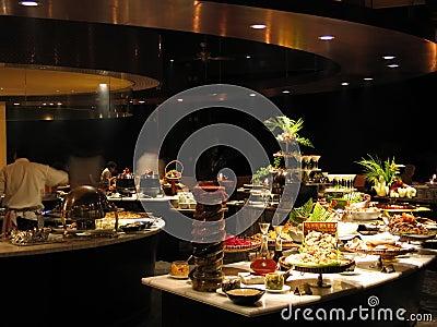 Restaurant bij nacht-1189