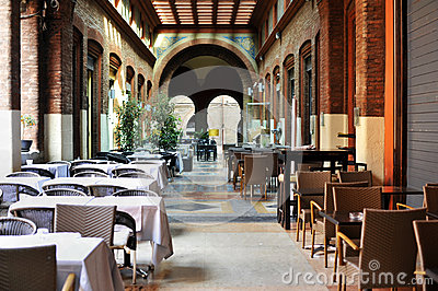 Restaurant in Bologna Editorial Image
