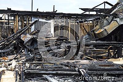 Restaurant Burned to Ground