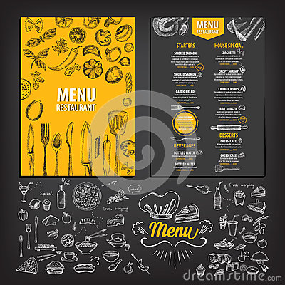 Free Restaurant Cafe Menu, Template Design. Stock Photos - 61737703