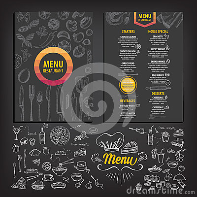 Free Restaurant Cafe Menu, Template Design. Royalty Free Stock Image - 62205876