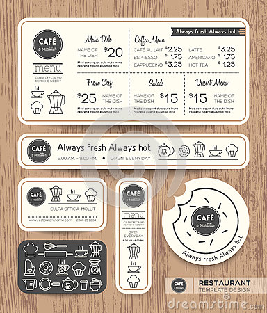 Free Restaurant Cafe Set Menu Graphic Design Template Royalty Free Stock Photography - 47001177