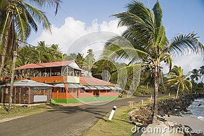 restaurant by caribbean sea corn island nicaragua