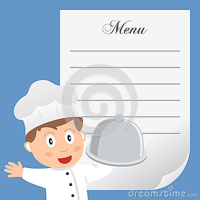 Restaurant Chef with Blank Menu