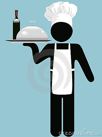 Restaurant Chef Waiter Wine Food Tray Royalty Free Stock ... Empty Food Tray Clipart