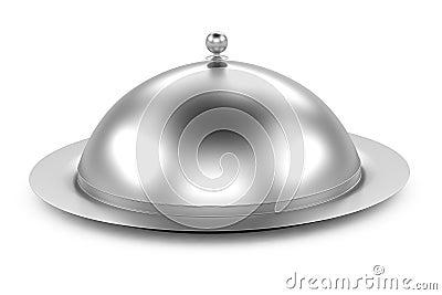 Restaurant cloche om white