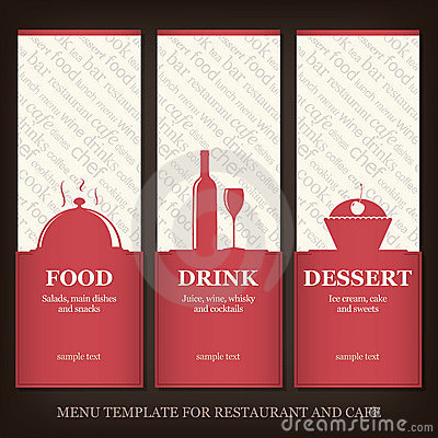 Restaurant or coffee house menu