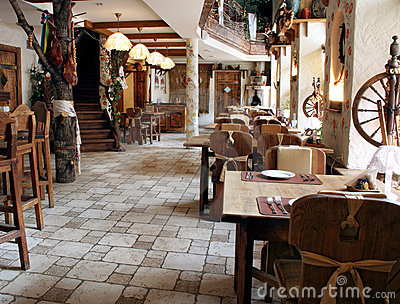 Restaurant In Country Style Royalty Free Stock Photography