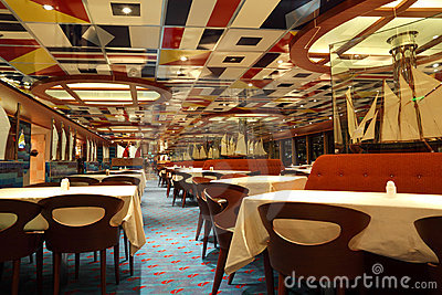 Restaurant on cruise ship Costa Deliziosa Editorial Stock Image