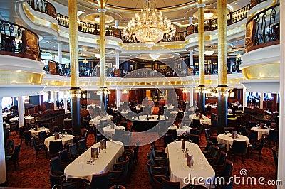 Restaurant On Cruise Ship Editorial Stock Photo
