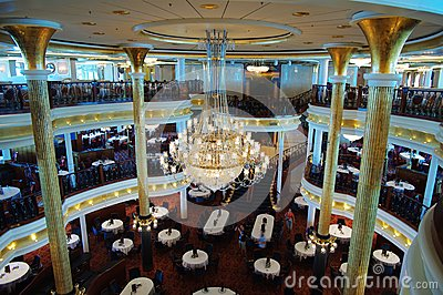 Restaurant in Cruise Editorial Stock Photo