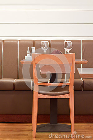 Restaurant diner table